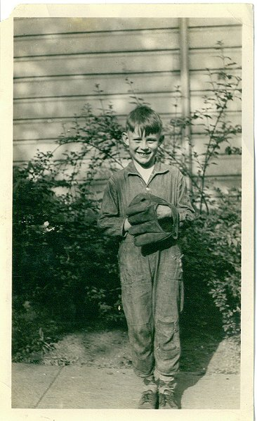 My Dad, Jack Rodgers. Age 8, ca. 1936. Nice glove!